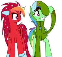 Rainbow Dash (Flaky) And Rainbow Blitz (Flippy) by nederside