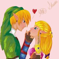 Link and Zelda by Shucca