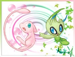 +trying new style+: Celebi-Mew by Adept-eX