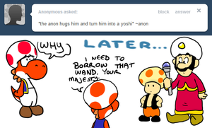 Annoy Toad - Yoshi Anon by pocket-arsenal