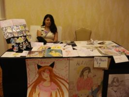 our table at artist alley by HanaIchigo94
