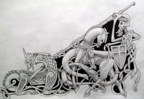 St George and the Dragon by knotty-inks