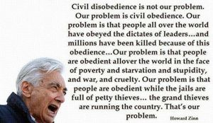 Our problem is civil obedience by uki--uki