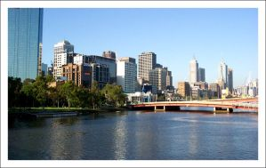 Yarra River from Claredon St. by decryption