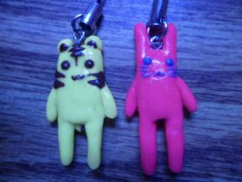 Tiger and Bunny Clay Phone Charms by Jounin-SZ