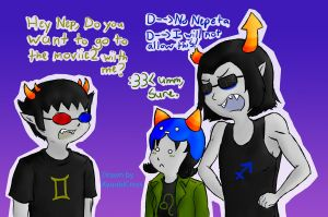 Movie date with Sollux by kyuubicross