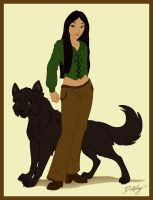 Tala and Wolf by DolphyDolphiana