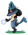 SPEEDPAINT-Warrior Lucario by DarkyLu