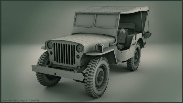 Jeep Willys|Wip|3D Modeling by Omessler