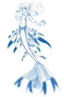 Glaucus atlanticus by SchizoCheese