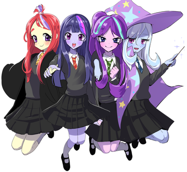 ponys in hogwarts by quizia
