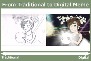 From Traditional to Digital Meme by iamthek3n