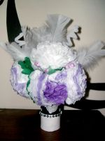 Paper flowers- Bride's bouquet by MorbidKittyCorpse