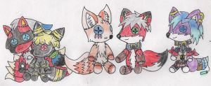 Plushies! x3 by Milesprower222YT