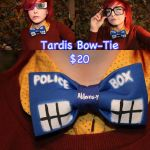 NOTE ME for Tardis Bow Tie by SugarBunnyCosplay