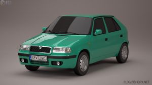 Skoda Felicia Facelift 3D model by chrbet