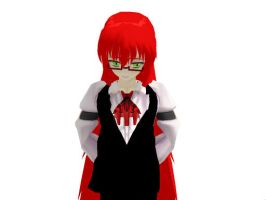 MMD Poor Grell by Brinb11