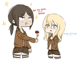 BE MY GURL, CHRISTA! by Serenity-Cataclysm