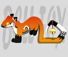Bell Fox toy design by Moose15