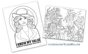 Coloring Pages Patreon by khallion