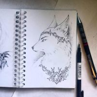 Instaart - Arctic fox King by Candra