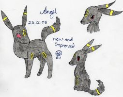 Angel the Umbreon by MineralRabbit