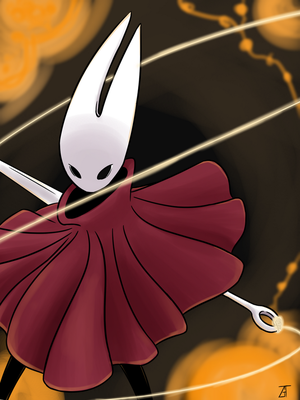 [Hollow Knight] Hornet by aninedyte