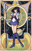 Sailor Saturn (Mucha) by Snigom