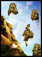 Floating Mountains by Granjefe