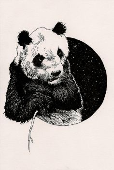 Panda, with toothache by GoldenGirls