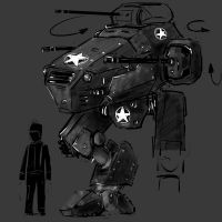 Allied Scout Mech by Rafta