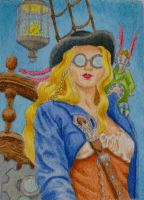 She's a Steam Punk Pirate by waughtercolors