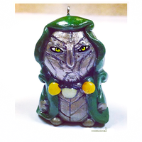 Doctor Doom Clay Charm by Comsical