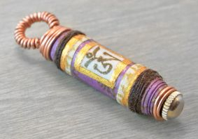 Om Mani Padme Hum Mantra Pendant in Lavender by OneUrbanTribe