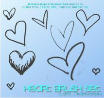 Heart Brushes by tinfoil-hearts