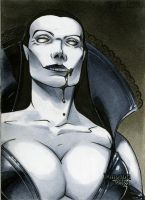 Vampire Dun. Dolls Sketch Card by RichardCox