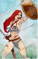 Red Sonja Cover by AnielaAbair