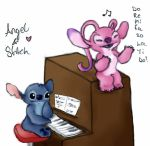 Angel and Stitch ~ Piano! by bonnieboo0