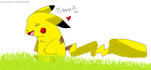 Pikachu Doodle by AngelFurry107