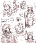 Doodles varios - Regular Show and DMmd - by KiraiRei