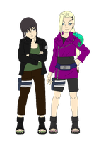 Ino And Shikako by Silver-Queen