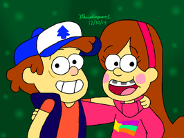 Dipper and Mabel by MarioSimpson1
