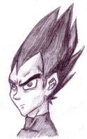 Vegeta from memory by Littlenene