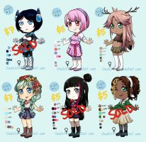 Adoptable Batch 4 REDUCED PRICE!! OPEN by shock777