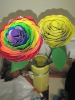 duct tape roses by melie97