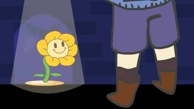 Flowery talking with Frisk by wondermeow