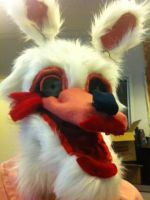 fnaf Mangle cosplay mask WIP progress pic by siletrea