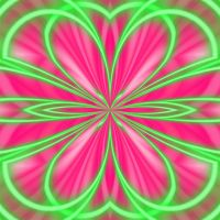 neon pink and green mirror by zozzy-zebra