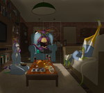 Halloween sleepover by ithor
