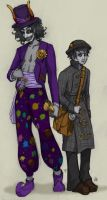 steamstuck - gamzee and karkat by xthebucketwhisperer